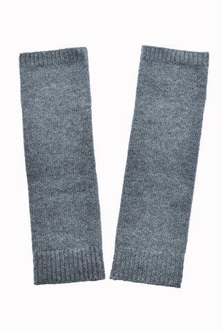 End of dye lot sale - Cashmere Merino Knit Sleeves - Dark Gray