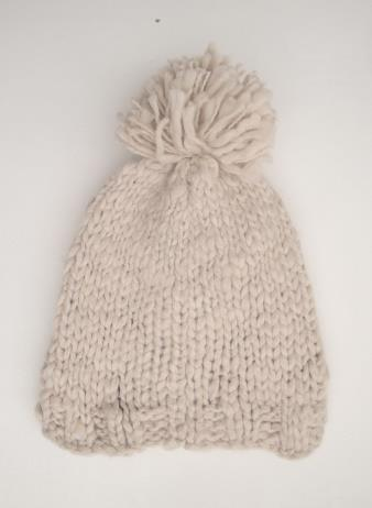 Acrylic Knit Cap - Cream