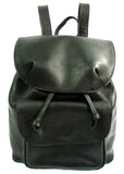 Cubist Inspired Black Leather Backpack