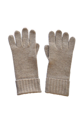 Cashmere w Merino Knit Gloves - Latte- ETA Dec 18