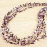 Amethyst four strand necklace