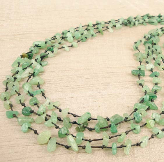 Aventurine 4 strand necklace