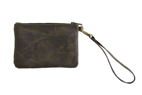Day Pouch - Natural Dark Brown - Allow 4-5 weeks for delivery