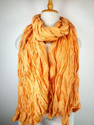 Silk w Rayon Shawl - Orange