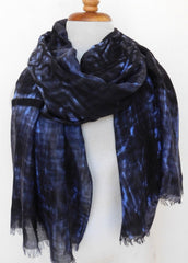 Illegible viscose w wool - Blue