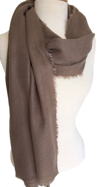 Minimalist Winter Wrap Scarf in Taupe