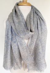 Soft Texture Infinity Scarf in Blue