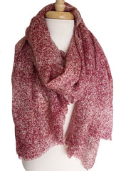 Cozy Heather Scarf in Red