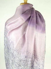 Hand-painted Thai Silk Art - Purple Ombre