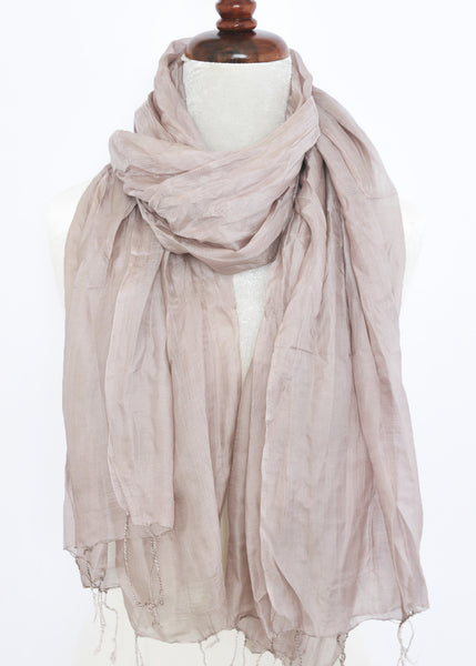 Crinkled Silk Scarves - Sphinx