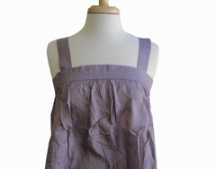 Sleeveless Silk Top in Plum