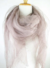 Double Layer Silk w Linen - Blush