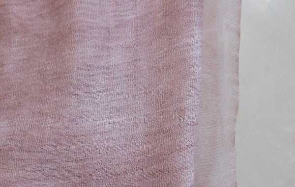 Soft double layer silk w cotton scarves in Pale Rose