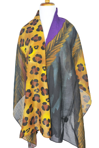 Mod Art Silk w Cotton Scarf - Royal Kingdom
