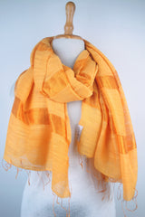 Ladder stripe VN silk scarf - Apricot