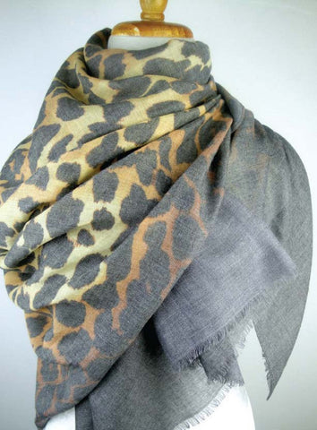 Almost Perfect -  Modal Animal Print - Charcoal