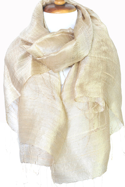 Natural Silk Solid - Camel