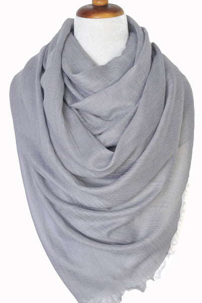 Oversized Modal Solid Scarf in Light Gray - ETA Mar 20