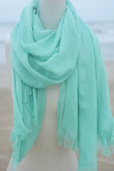 Oversized Modal Solid Scarf in Mint