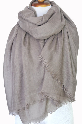 Oversized Modal Solid Scarf in Taupe  - ETA Sep 1