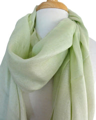 Silk & Modal Solid Scarf in Celery Green