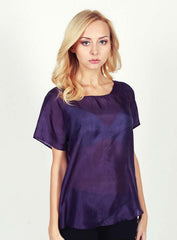 Solid Silk Top - Purple