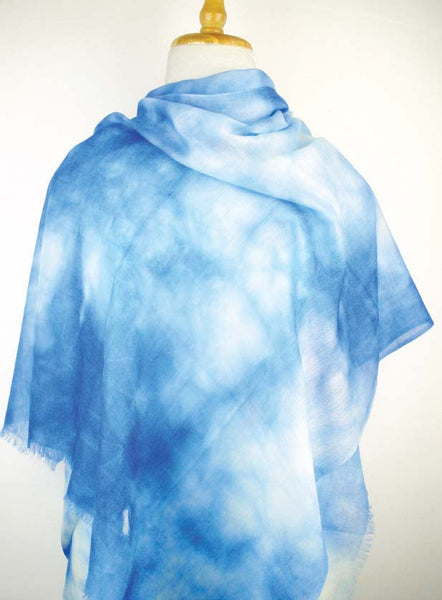Cashmere w Merino Clouds - Blue