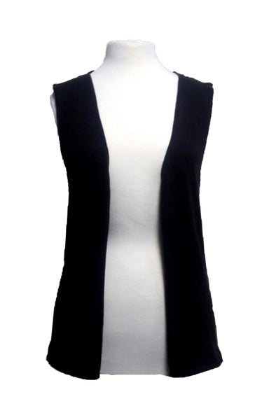 Cotton w Cashmere Vest - Dark Night Black