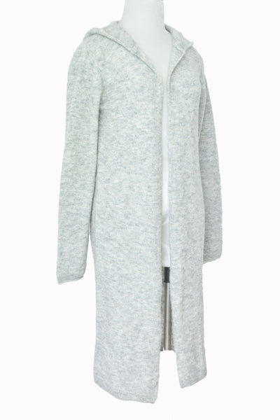 Alpaca w Rayon Cardigan Hoodie - Light Gray