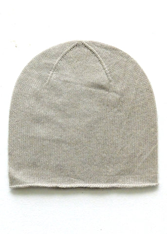 End of dye lot sale - Cashmere Merino Knit Cap - Beige