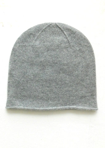 Cashmere w merino knit cap -Light Gray - ETA Dec 18