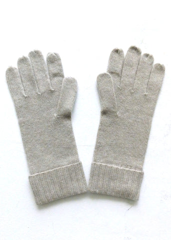 Cashmere w merino knit gloves - Beige - ETA Dec 18