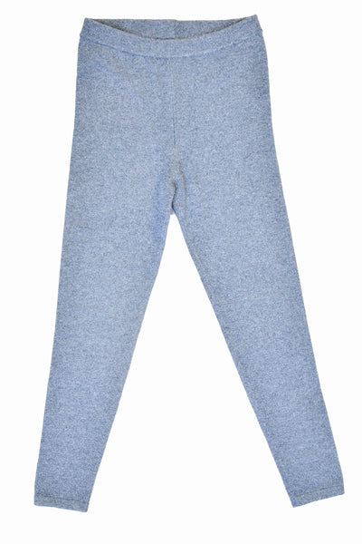 Cashmere w Merino Knit Leggings - Light Gray