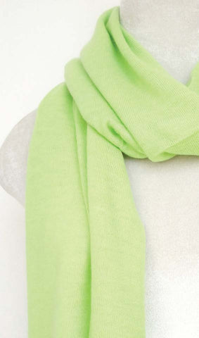 Cashmere Knit Scarf - Jade lime