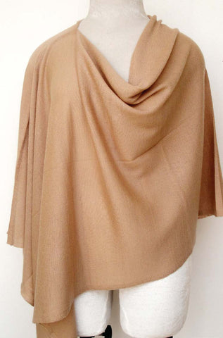 Cashmere Knit Poncho top - Beige
