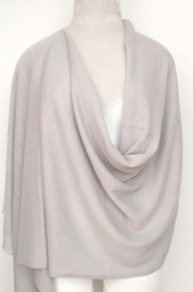 Cashmere Knit Poncho top - Light Gray