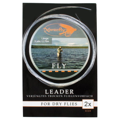 X-Version Fly Fly Leader, Verjüngtes Forfang, Str.2x, 0,22-0,54 Mm