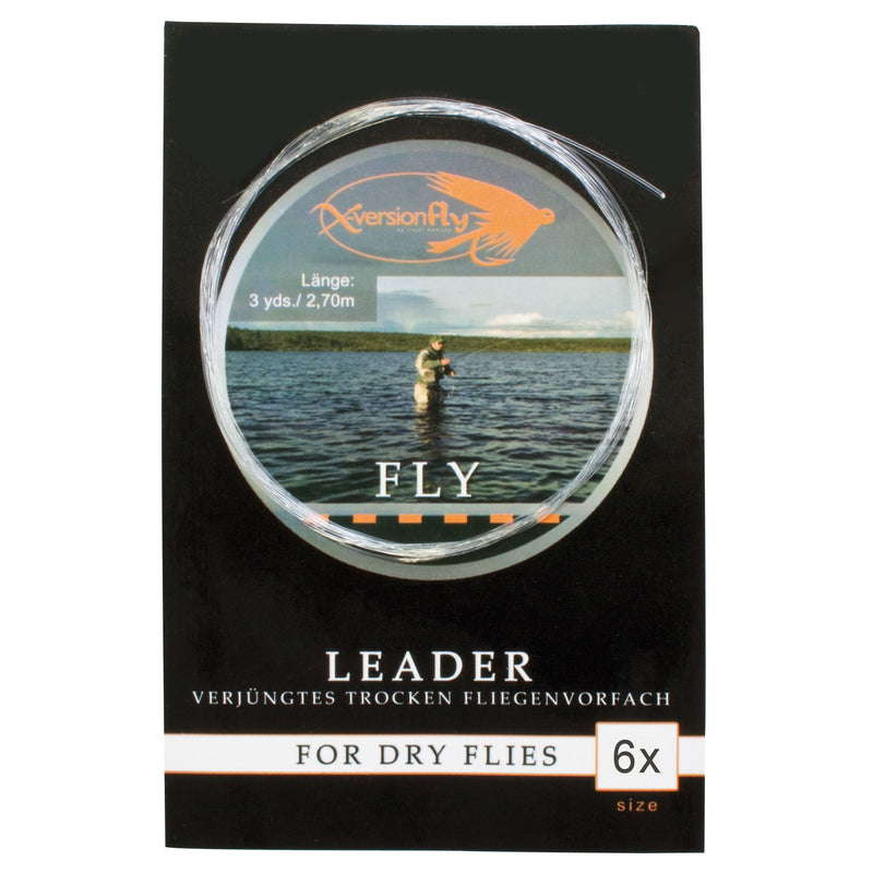 Fly Leader, Verjüngtes Vorfach, Gr.6x, 0,14-0,38 mm
