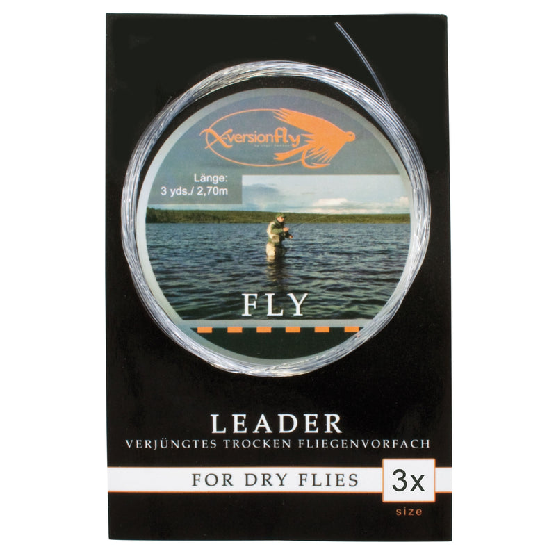 Fly Leader, Verjüngtes Vorfach, Gr.3x, 0,20-0,50 mm