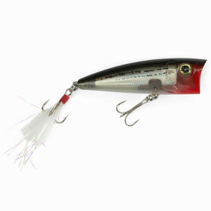 Catchslide Feather Popper 1 floating 7,5cm grey pearl striped