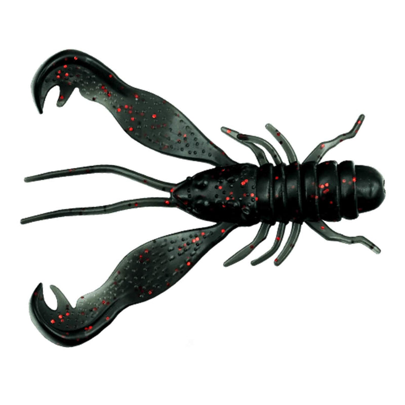LMAB Finesse Filet Craw 10cm Night Fire, 8 g - 3 Stück