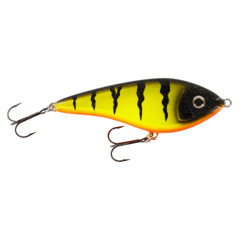 Swim (Jerkbait) 12cm Intermediate Fire Perch UV
