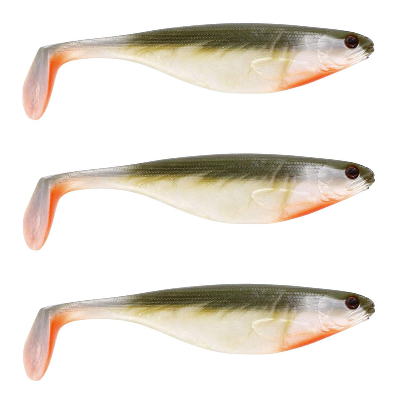 Westin ShadTeez 9cm Bass Orange Gummifische, 7g - 3 Styck