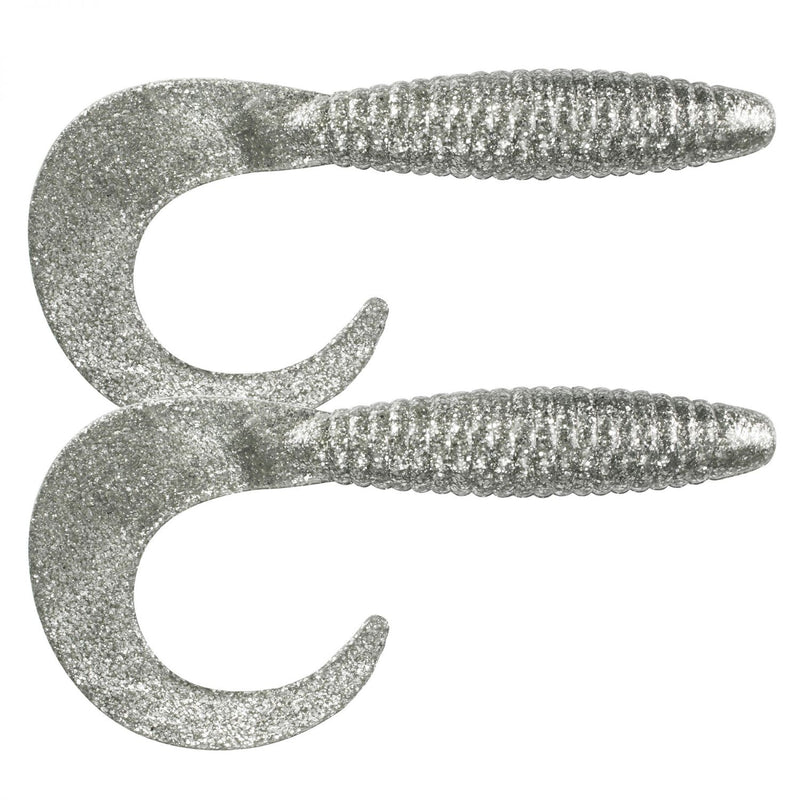 Big Tail Grub Twister 33,0cm 2er Pack C6 Silver Glitter