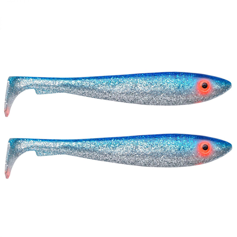 McRubber Shad 29cm 2er Pack C0 Blue silver glitter