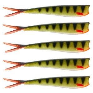 "Twin Teez 6"" (153mm) No Action V Tail Shad Striped Perch"