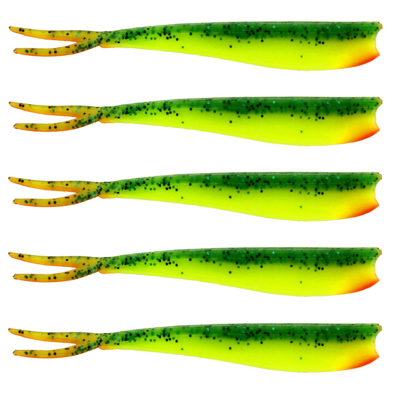 "Twin Teez 6"" (153mm) No Action V Tail Shad Fireflake"