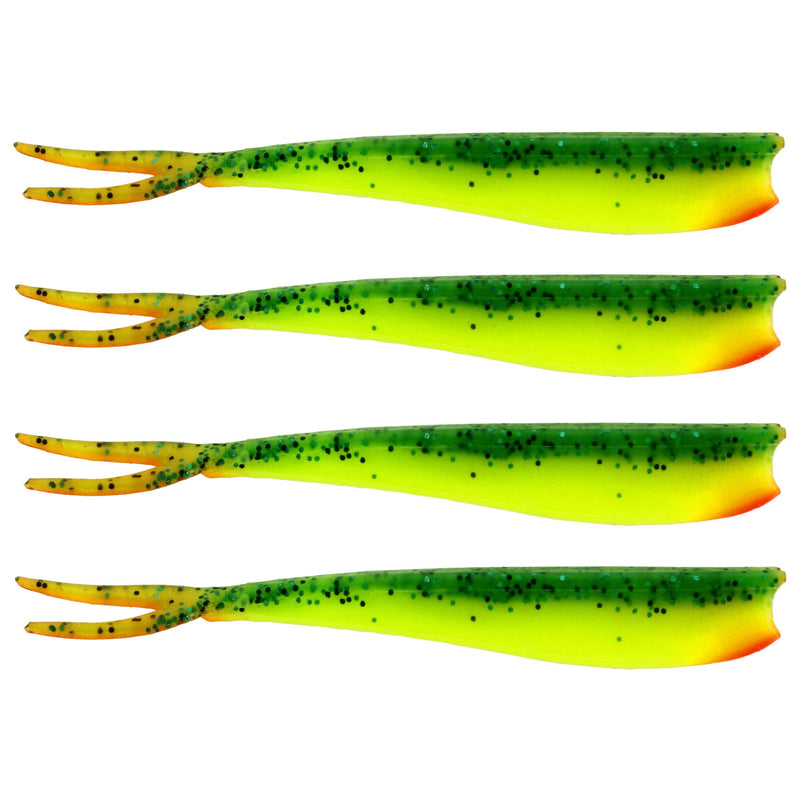"Twin Teez 8"" (204mm) No Action V Tail Shad Fireflake"