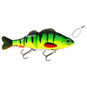 Percy the Perch Inline Swimbait 20cm UV Firetiger