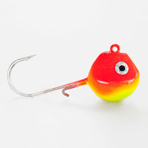 Light Tackle LT Jighead mit VMC Haken rot/ gelb 125g